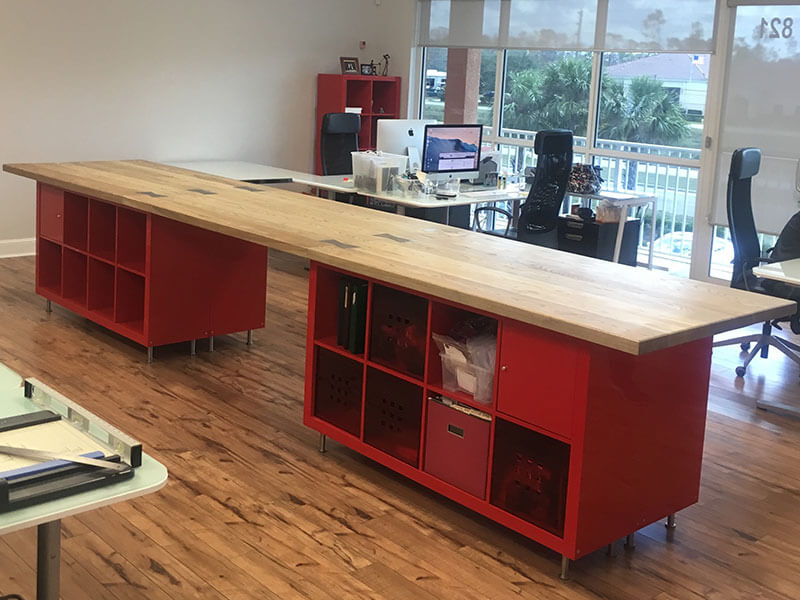 CUSTOM BUILT OFFICE FURNITURE Handcrafted from Wood